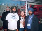 Con la delegación de la India