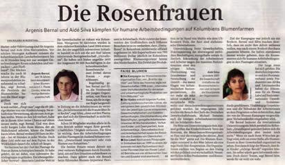 Facsímil del diario alemán Frankfurter Rundschau