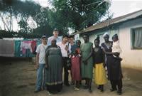 Con una familia keniana